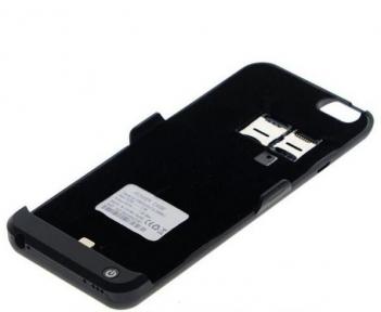 Чехол - Батарея С Встроенным Телефоном Для Iphone 6/6S Черный
