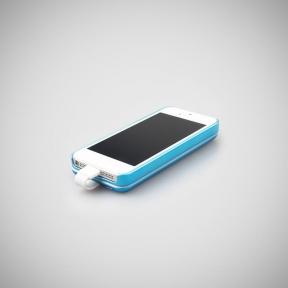 Чехол С Аккумулятором Для Iphone 5/5S 2800Mah Magnetic Battery Case Blue