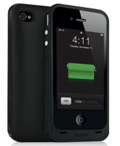 Mophie Juice Pack Plus Чехол Аккумулятор Для Iphone 4/4S Черный