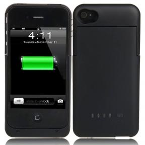 Чехол Аккумулятор Для Iphone 4/4S 1900Mah Черный