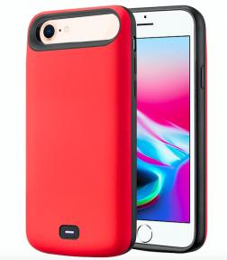 Чехол аккумулятор для iPhone 6/6S/7/8 audio - 5500 mah Red