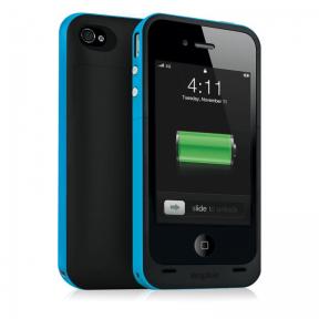 Mophie Juice Pack Plus Чехол Аккумулятор Для Iphone 4/4S Голубой