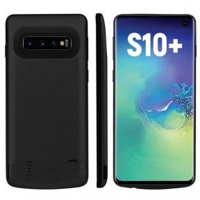 Чехол зарядка для Samsung S10+ 6000 mAh black