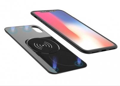 Чехол с аккумулятором 2 в 1 с беспроводной зарядкой для iPhone X