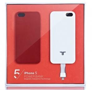 Чехол С Аккумулятором Для Iphone 5/5S 2800Mah Magnetic Battery Case Red
