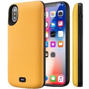 Чехол С Аккумулятором Для Iphone X/ Iphone 10 (Yellow) - 5000 Mah - Audio