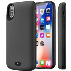 Чехол c аккумулятором для iPhone X/ iPhone 10 (Gray) - 5000 Mah - Audio