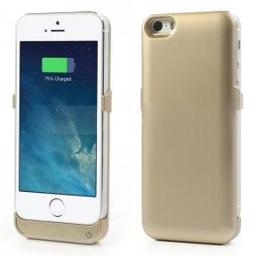 Чехол-Зарядка Для Iphone 5/5S 2400Mah Gold Ультра Тонкий