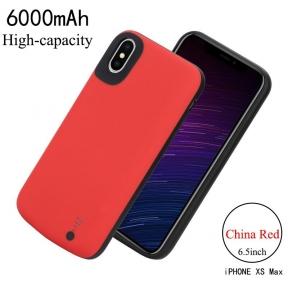 Чехол зарядка Power Case для iPhone Xs Max - 6000mAh красный