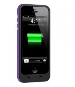 Чехол Со Встроенной Батареей 2500 Mah Для Iphone 5/5S Purple